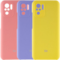 Чехол Silicone Cover Full Camera (AAA) для Xiaomi Redmi Note 10 / Note 10s