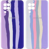 Чехол Silicone Cover Full Rainbow для Samsung Galaxy A22 4G