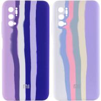 Чехол Silicone Cover Full Rainbow для Xiaomi Redmi Note 10 5G / Poco M3 Pro