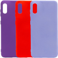 Чехол Silicone Cover Full without Logo (A) для Samsung Galaxy A02