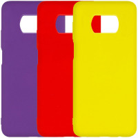 Чехол Silicone Cover Full without Logo (A) для Xiaomi Poco X3 Pro