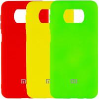 Чехол Silicone Cover My Color Full Protective (A) для Xiaomi Poco X3 Pro