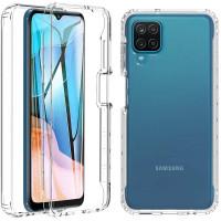 Чехол TPU+PC Full Body с защитой 360 для Samsung Galaxy A12