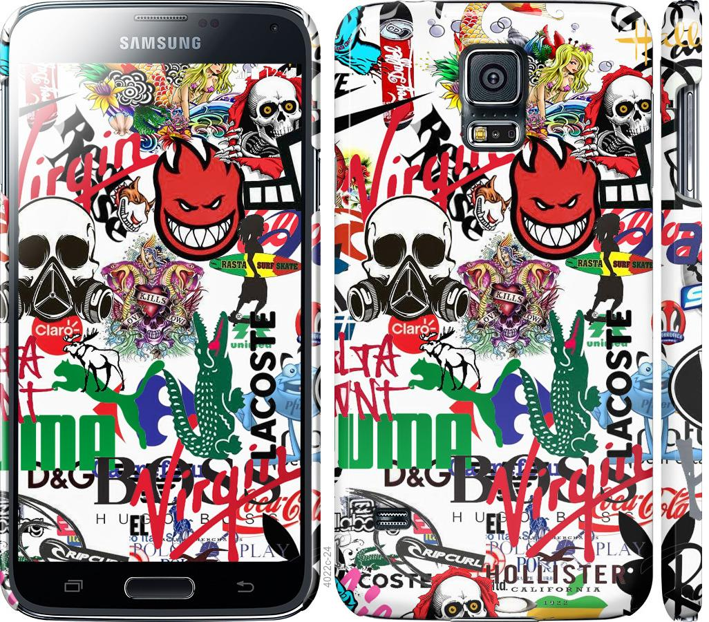 Чохол на Samsung Galaxy S5 g900h Many different logos
