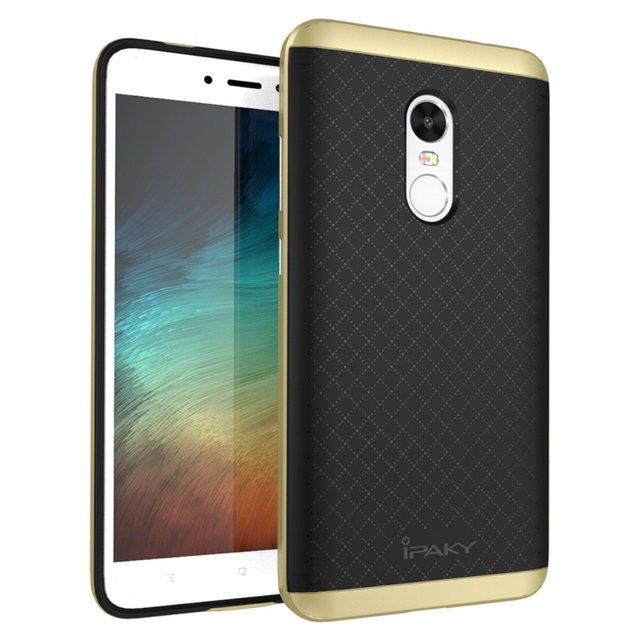 Чехол iPaky TPU+PC для Xiaomi Redmi Note 4X / Redmi Note 4 (SD) (Черный / Золотой)