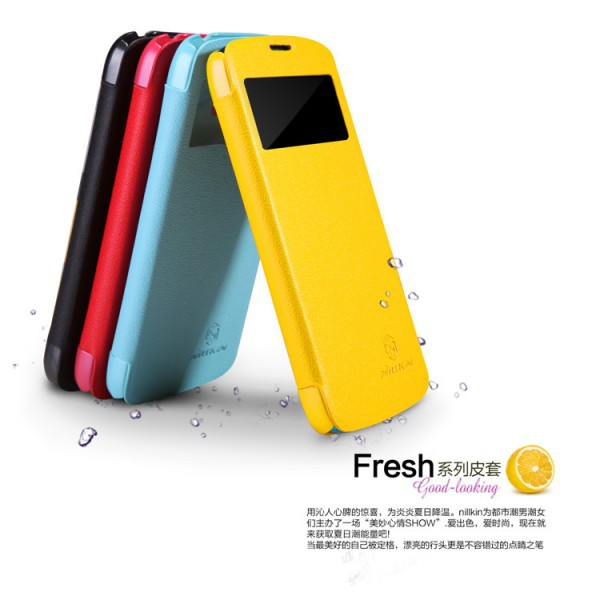 Кожаный чехол (книжка) Nillkin Fresh Series для Samsung i9295 Galaxy S4 Active