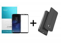 Чехол-книжка Dux Ducis с карманом для визиток для Samsung G950 Galaxy S8 + Защитное стекло Nillkin (CP+ max 3D) для Samsung G950 Galaxy S8 / S9