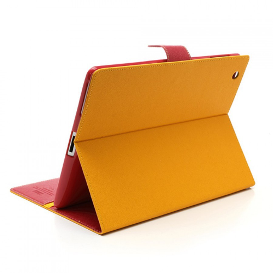 Фото Чехол (книжка) Mercury Fancy Diary series для Apple iPad 2/3/4 Желтый / Малиновый на itsell.ua