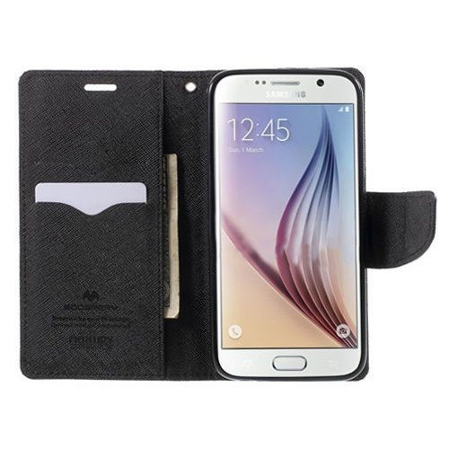 Фото Чехол (книжка) Mercury Fancy Diary series для Samsung G925F Galaxy S6 Edge Черный / Черный в магазине itsell.ua