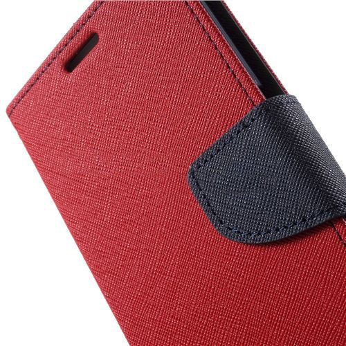 Фото Чехол (книжка) Mercury Fancy Diary series для Samsung G925F Galaxy S6 Edge Красный / Синий на itsell.ua