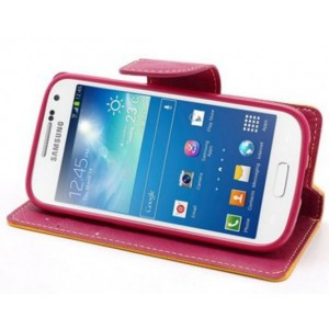 Фото Чехол (книжка) Mercury Fancy Diary series для Samsung i9192/i9190/i9195 Galaxy S4 mini Красный / Синий на itsell.ua