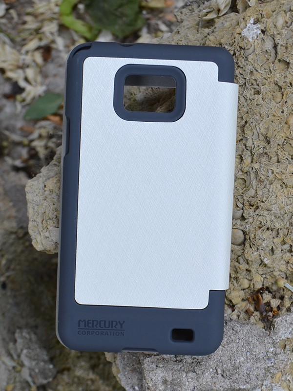 Фото Чехол (книжка) Mercury Wow Bumper series для Samsung i9100 Galaxy S2/i9105 Galaxy S2 Plus Белый в магазине itsell.ua