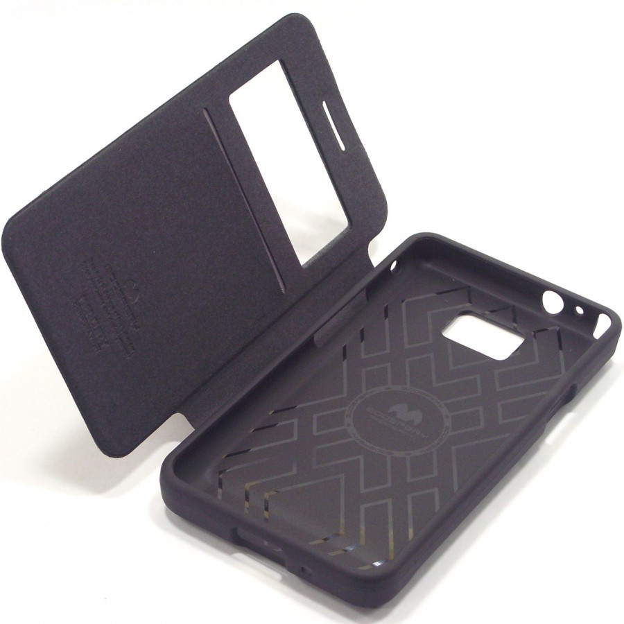 Фото Чехол (книжка) Mercury Wow Bumper series для Samsung i9100 Galaxy S2/i9105 Galaxy S2 Plus Черный на itsell.ua