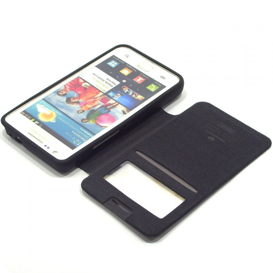 Чехол (книжка) Mercury Wow Bumper series для Samsung i9100 Galaxy S2/i9105 Galaxy S2 Plus Черный в магазине itsell.ua