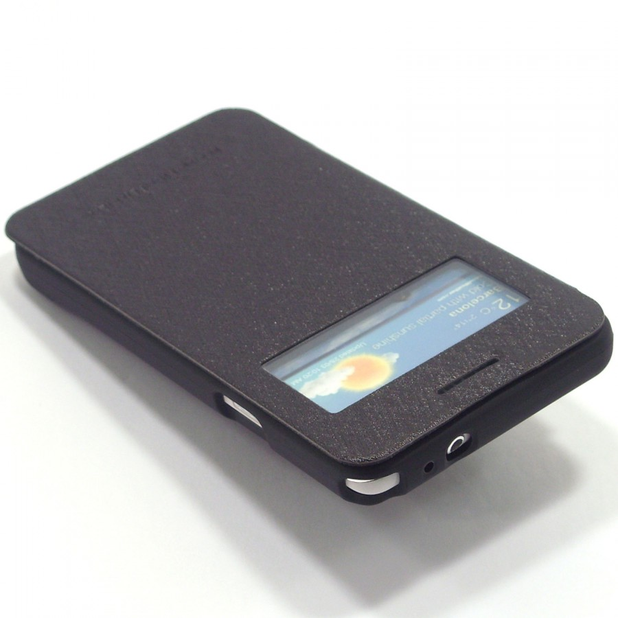 Чехол (книжка) Mercury Wow Bumper series для Samsung i9100 Galaxy S2/i9105 Galaxy S2 Plus Черный на itsell.ua