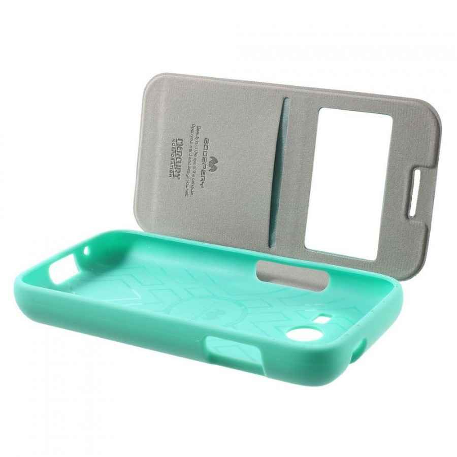 Фото Чехол (книжка) Mercury Wow Bumper series для Samsung i9300 Galaxy S3 Бирюзовый на itsell.ua