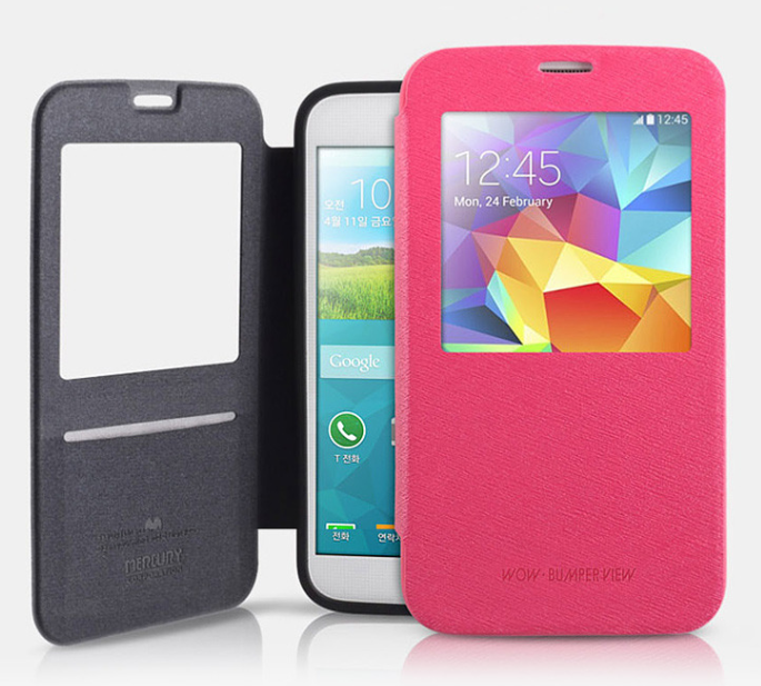 Фото Чехол (книжка) Mercury Wow Bumper series для Samsung i9500 Galaxy S4 (1 цвет) на itsell.ua