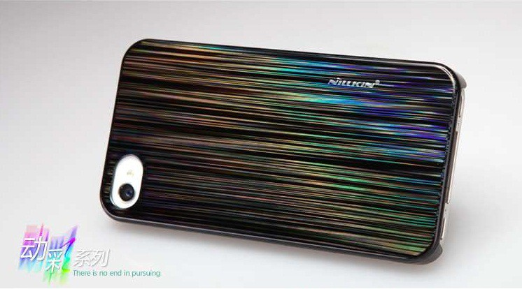 Чехол Nillkin Dynamic Color для iPhone 4/4S (+ пленка) черный на itsell.ua