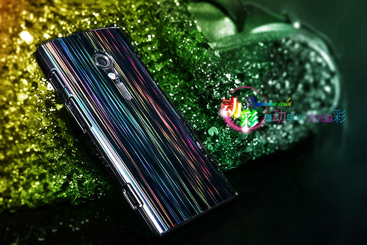 Фото Чехол Nillkin Dynamic Color для Sony Xperia Ion (LT28i) (+ пленка) Черный на itsell.ua