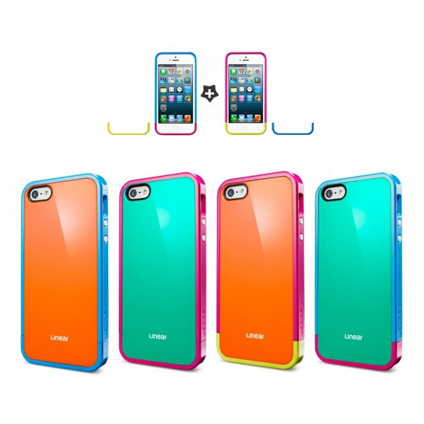 Чехол SGP Linear Pops Series для Apple iPhone 5/5S (+ пленка)