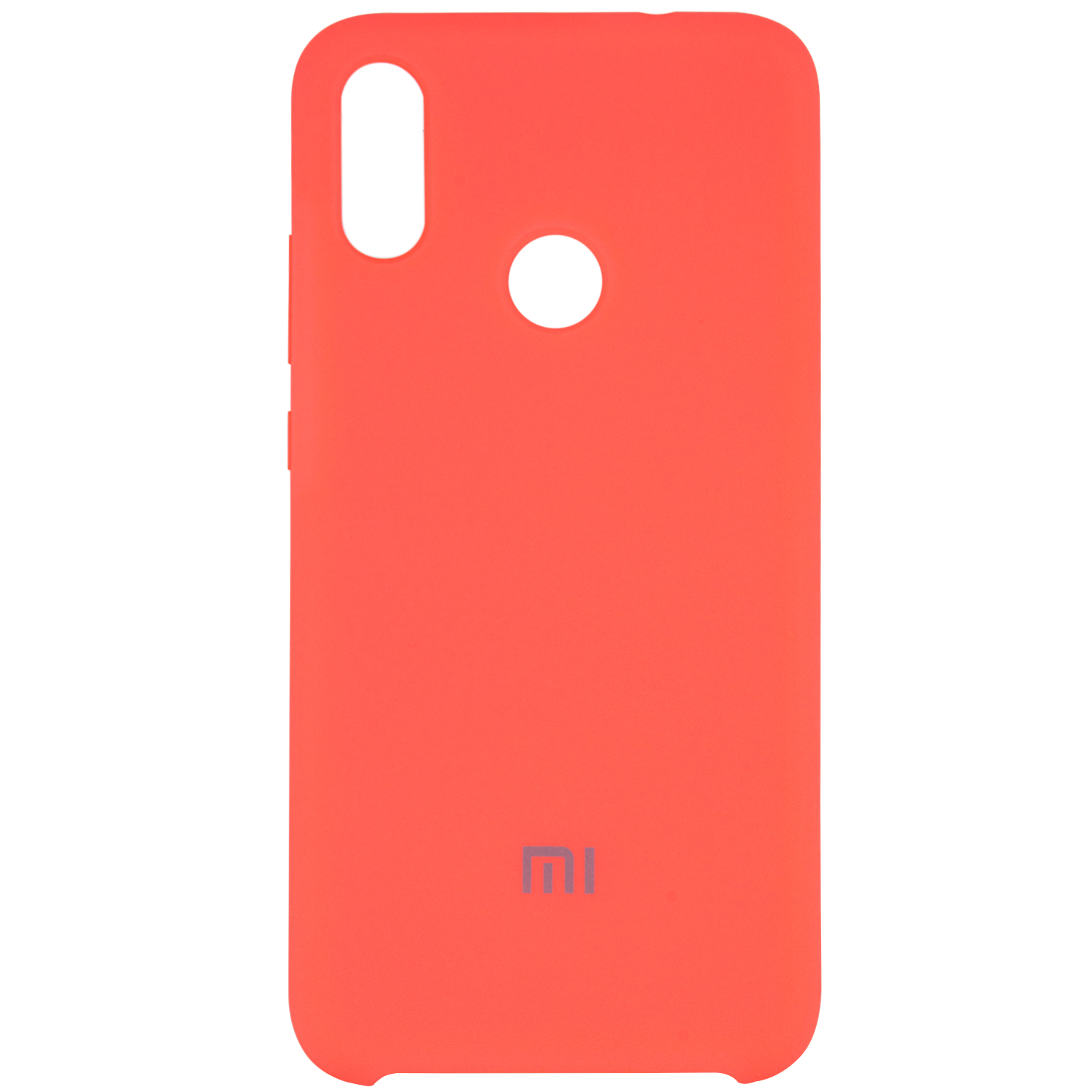 Чехол Silicone case для Xiaomi Redmi Note 7 / Note 7 Pro / Note 7s (Розовый / Living coral)