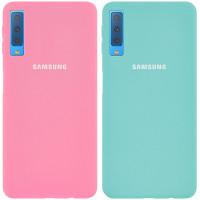 Чехол Silicone Cover Full Protective (AA) для Samsung A750 Galaxy A7 (2018)