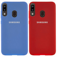 Чехол Silicone Cover Full Protective (AA) для Samsung Galaxy A20 (A205F)