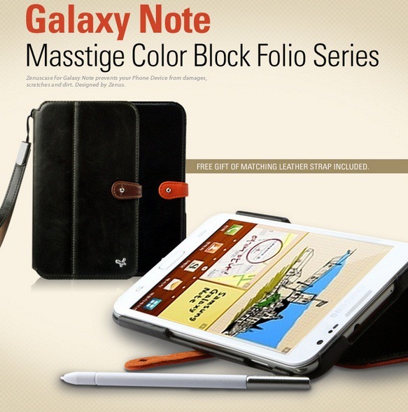 Фото Чехол Zenus Color Block Folio для Samsung Galaxy Note N7000 на itsell.ua