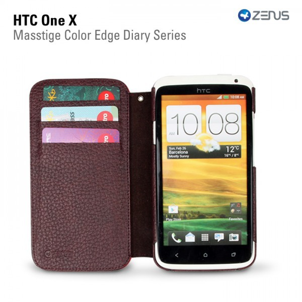 Кожаный чехол Zenus Masstige Color Edge для HTC One X на itsell.ua