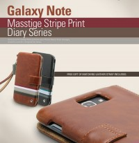 Фото Чехол Zenus Stripe Print Diary для Samsung N7000 Galaxy Note Коричневый на itsell.ua