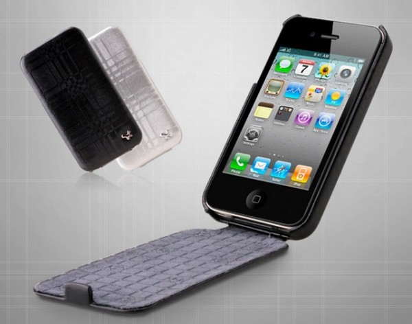 Фото Чехол Zenus Masstige Mono Check Folder для Apple Iphone 4 Черный / Black на itsell.ua