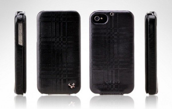 Фото Чехол Zenus Masstige Mono Check Folder для Apple Iphone 4 Черный / Black в магазине itsell.ua