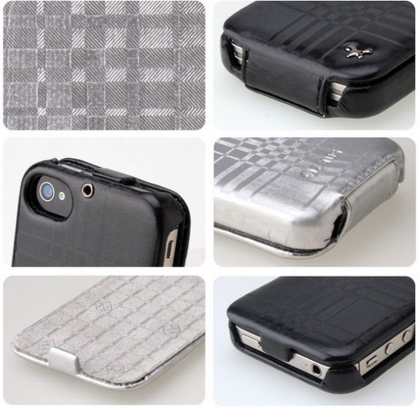 Чехол Zenus Masstige Mono Check Folder для Apple Iphone 4 Черный / Black на itsell.ua