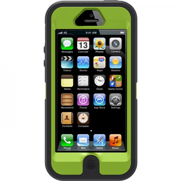 Фото Чехол OtterBox Defender Camo (high copy) для Apple iPhone 5/5S Осенняя ель / Xtra green на itsell.ua