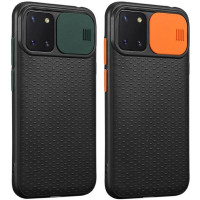 Чехол Camshield Black TPU со шторкой защищающей камеру для Samsung Galaxy Note 10 Lite (A81)