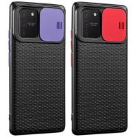 Чехол Camshield Black TPU со шторкой защищающей камеру для Samsung Galaxy S10 Lite