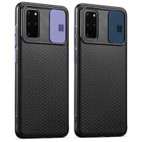 Чехол Camshield Black TPU со шторкой защищающей камеру для Samsung Galaxy S20+