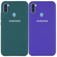 Чехол Silicone Cover Full Protective (AA) для Samsung Galaxy A11