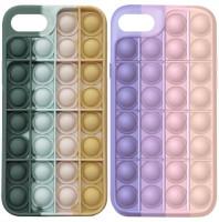 Cиликоновый 3D чехол-антистресс Pop it для Apple iPhone 7 plus (5.5'')