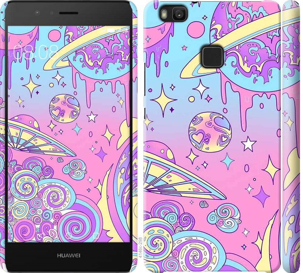 Чехол на Huawei P9 Lite Розовая галактика