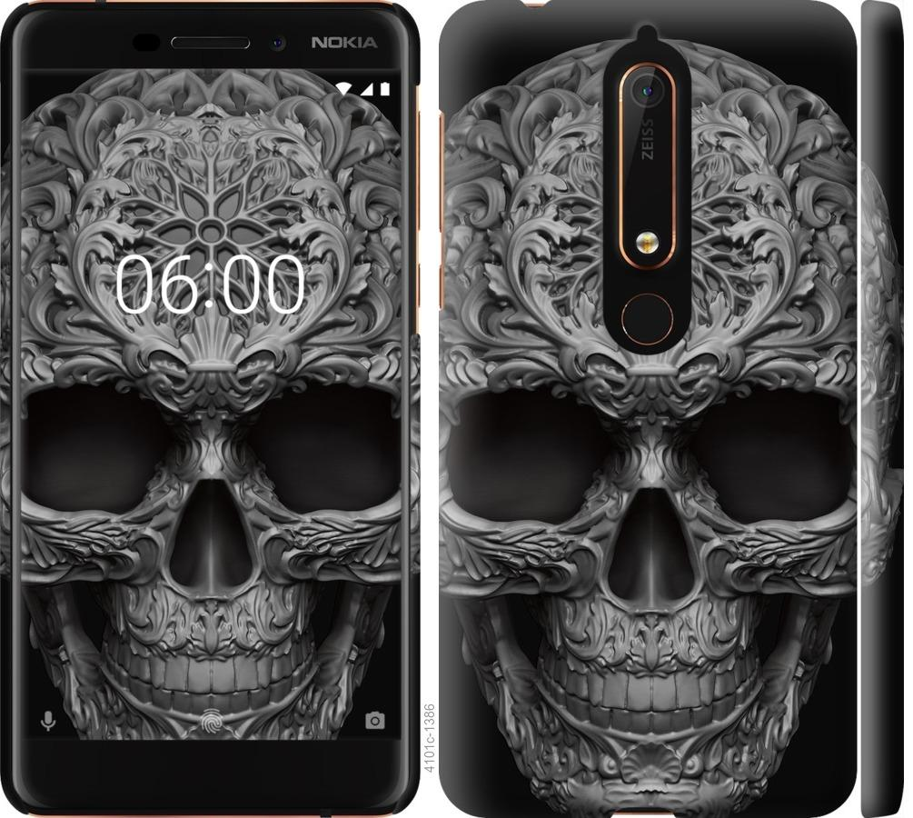 Чехол на Nokia 6.1 skull-ornament
