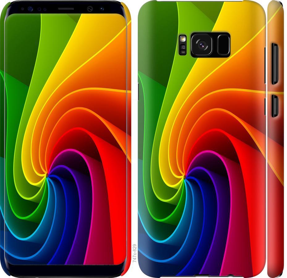 Чехол на Samsung Galaxy S8 Радужный вихрь