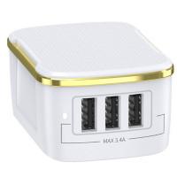 CЗУ Joyroom L-3A17S (3 USB / 17W)