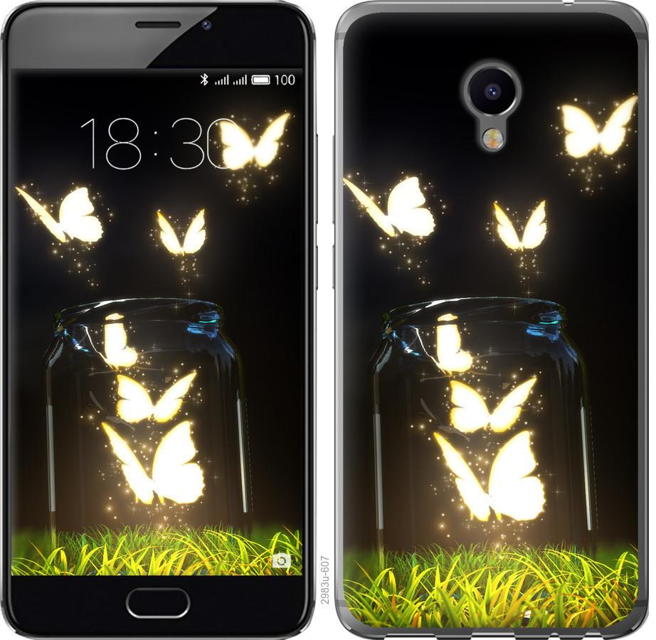 Чехол на Meizu M3e Бабочки