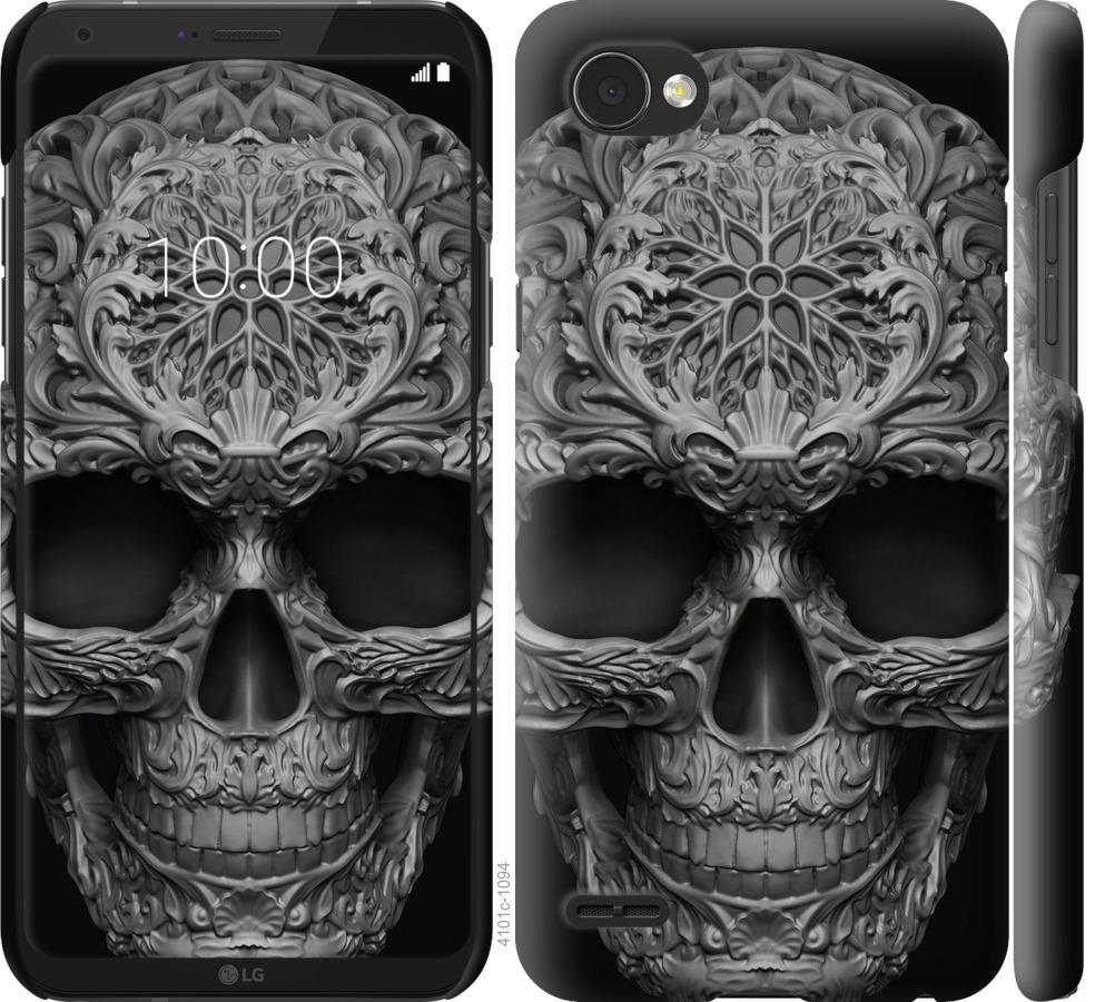 Чехол на LG Q6 skull-ornament