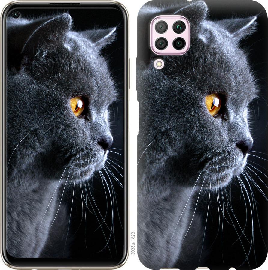 Чехол на Huawei P40 Lite Красивый кот