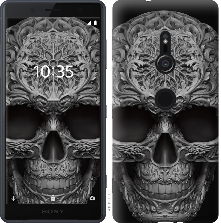 Чехол на Sony Xperia XZ2 H8266 skull-ornament