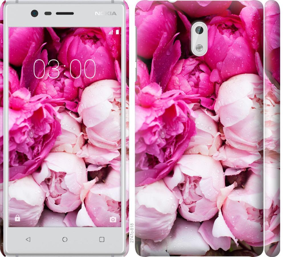 Чехол на Nokia 3 Розовые пионы