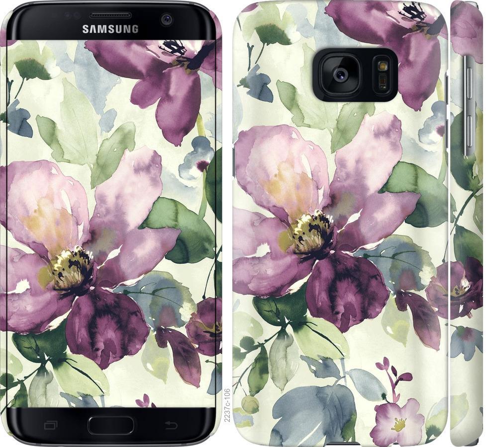 Чехол на Samsung Galaxy S7 G930F Цветы акварелью