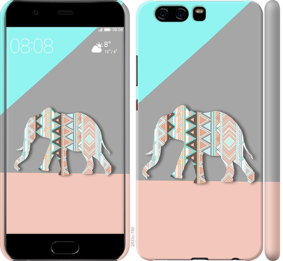 Чехол на Huawei P10 Узорчатый слон